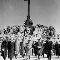 Fig. 5. Francisco Franco inaugura la Valle de los Caídos, 1 aprile 1959.