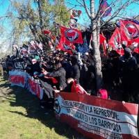 Fig. 8. Manifestazione antifascista nei boschi attorno alla Valle de los Caídos.