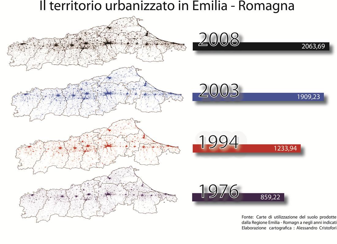 Bonora 4. Il territorio urbanizzato in Emilia Romagna
