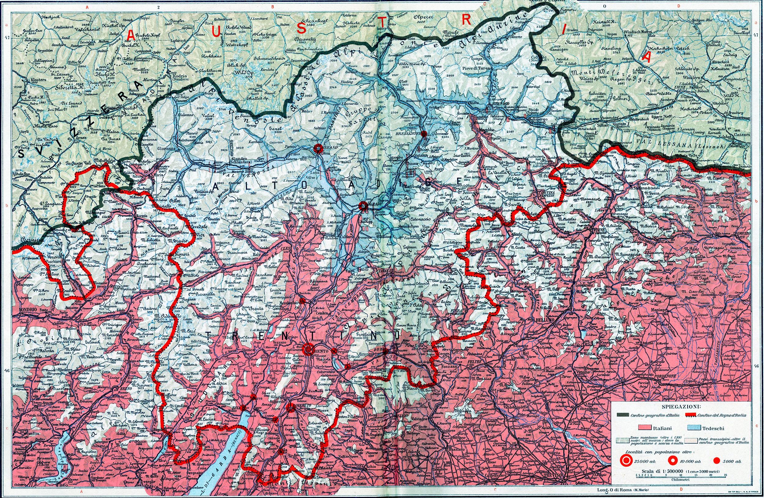 Trentino Alto Adige Cartina Fisica E Politica.Cesare Battisti Atlante Il Trentino Cenni Geografici Storici Economici Con Un Appendice Sull Alto Adige Matteo Proto