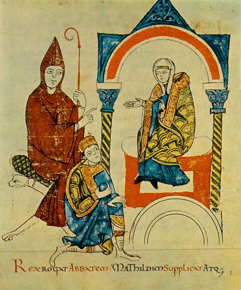 Hugh of Cluny, Holy Roman Emperor Henry IV, and Matilda of Tuscany, Vat. lat. 4922.