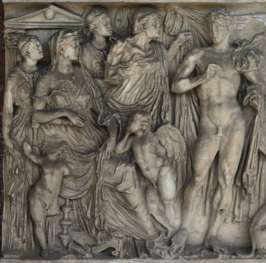 Fig. 2. Phaedra surrounded by her handmaidens, Hippolytus and, in the middle, the nurse.