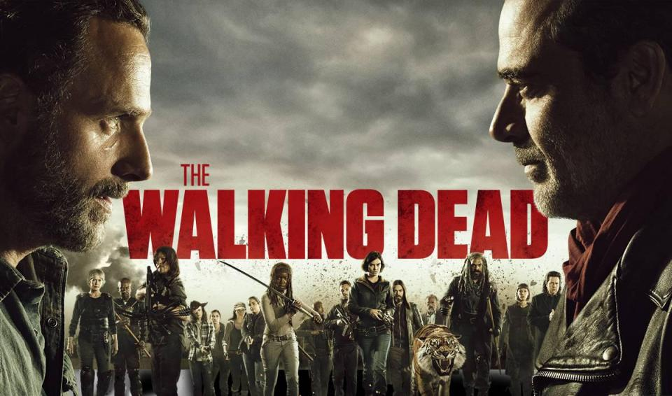 Un manifesto della serie-TV The Walking Dead: Rick e Negan