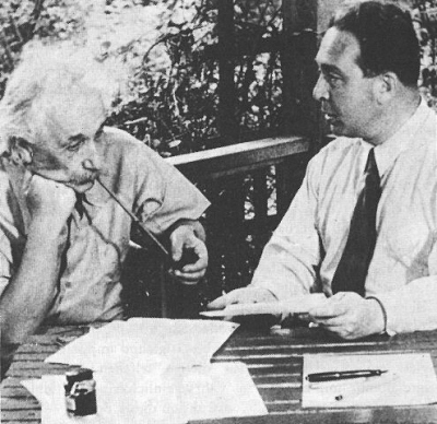 Albert Einstein with Leo   Szilard