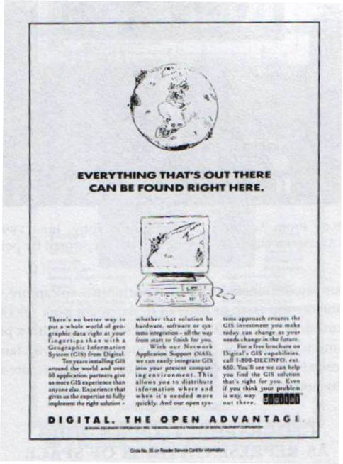 Figure 8.5. In J. Pickles (ed), Ground Truth: the Social Implications of Geographic Information Systems, New York/London, The Guilford Press, 1995, 177.