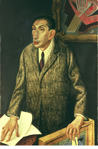 Otto Dix (Germania, 1891-1969). Il gallerista Alfred Flechtheim, 1926. Materiali misti su legno. 47 1/4 x 31 1/2 in. (120 x 80 cm). Staatliche Museen zu Berlin, Nationalgalerie. Photo: Bildarchiv Preussischer Kulturbesitz/Art Resource, NY. Copyright provided on different websites is: © 2006 Artists Rights Society (ARS), New York/VG Bild-Kunst, Bonn