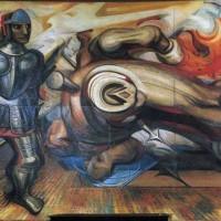 Fig. 24. David Alfaro Siqueiros, Cuauhtémoc redivivo, Palacio de Bellas Artes, 1951.