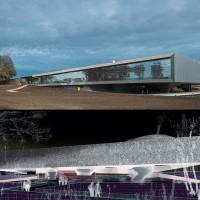 Fig. 7. Musée de la Grande Guerre, Meaux. Progetto architettonico e allestimento di Atelier Christophe Lab, 2011. Prospettiva di progetto e veduta