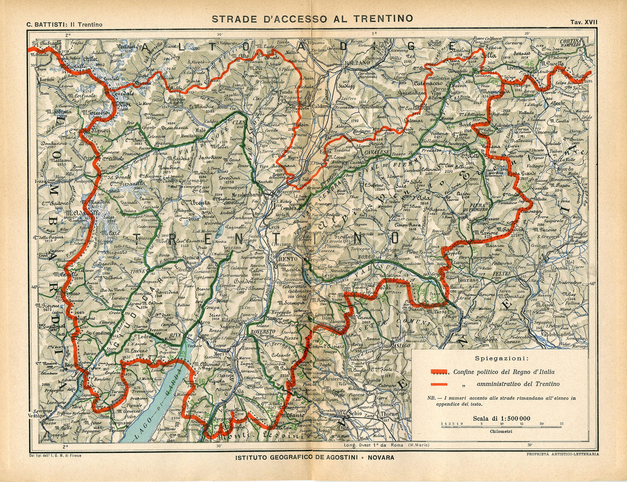 Cartina Stradale Trentino.Cesare Battisti Atlante Il Trentino Cenni Geografici Storici Economici Con Un Appendice Sull Alto Adige Matteo Proto