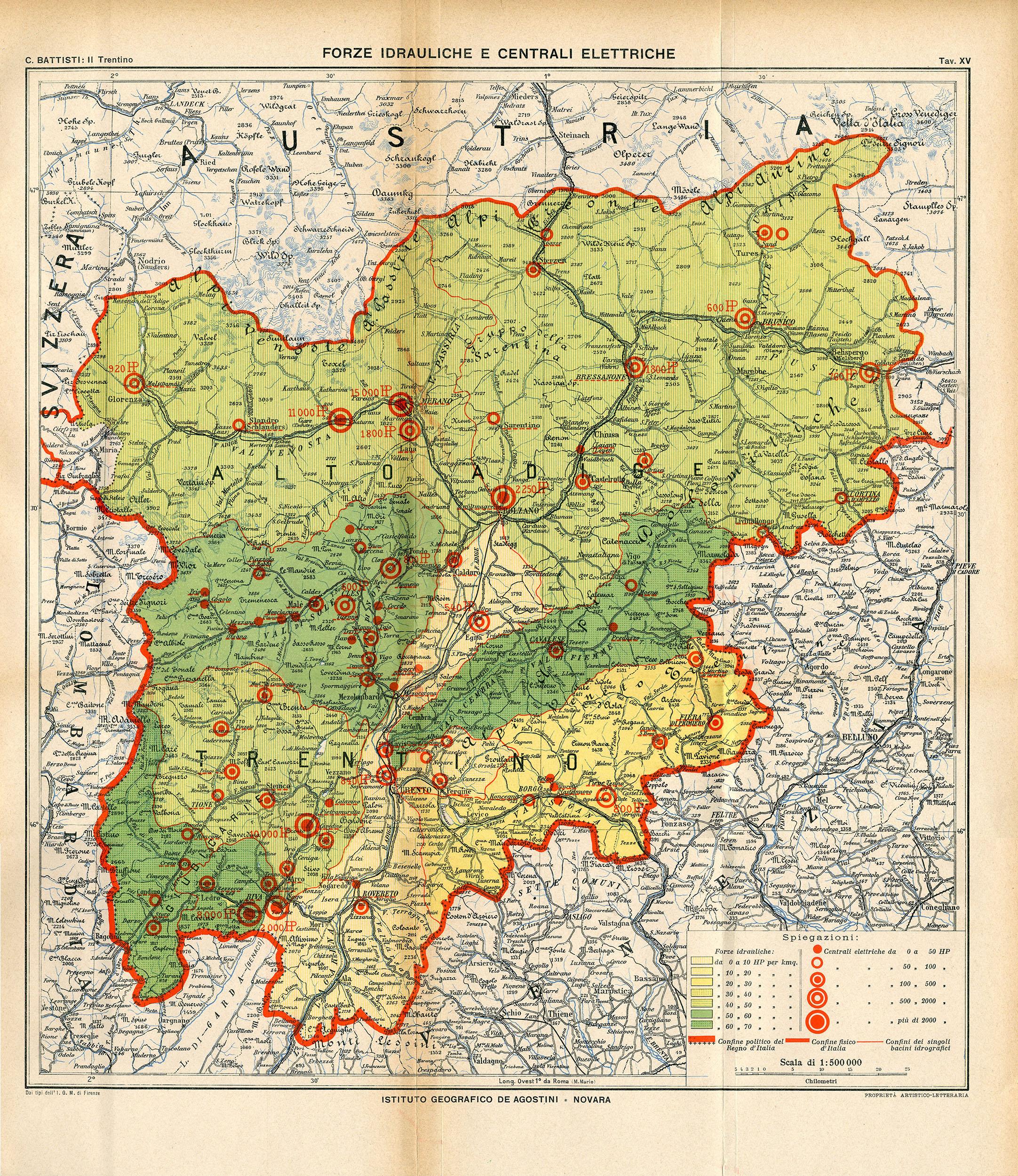 Cartina Fisica Del Trentino Alto Adige Da Stampare.Cesare Battisti Atlante Il Trentino Cenni Geografici Storici