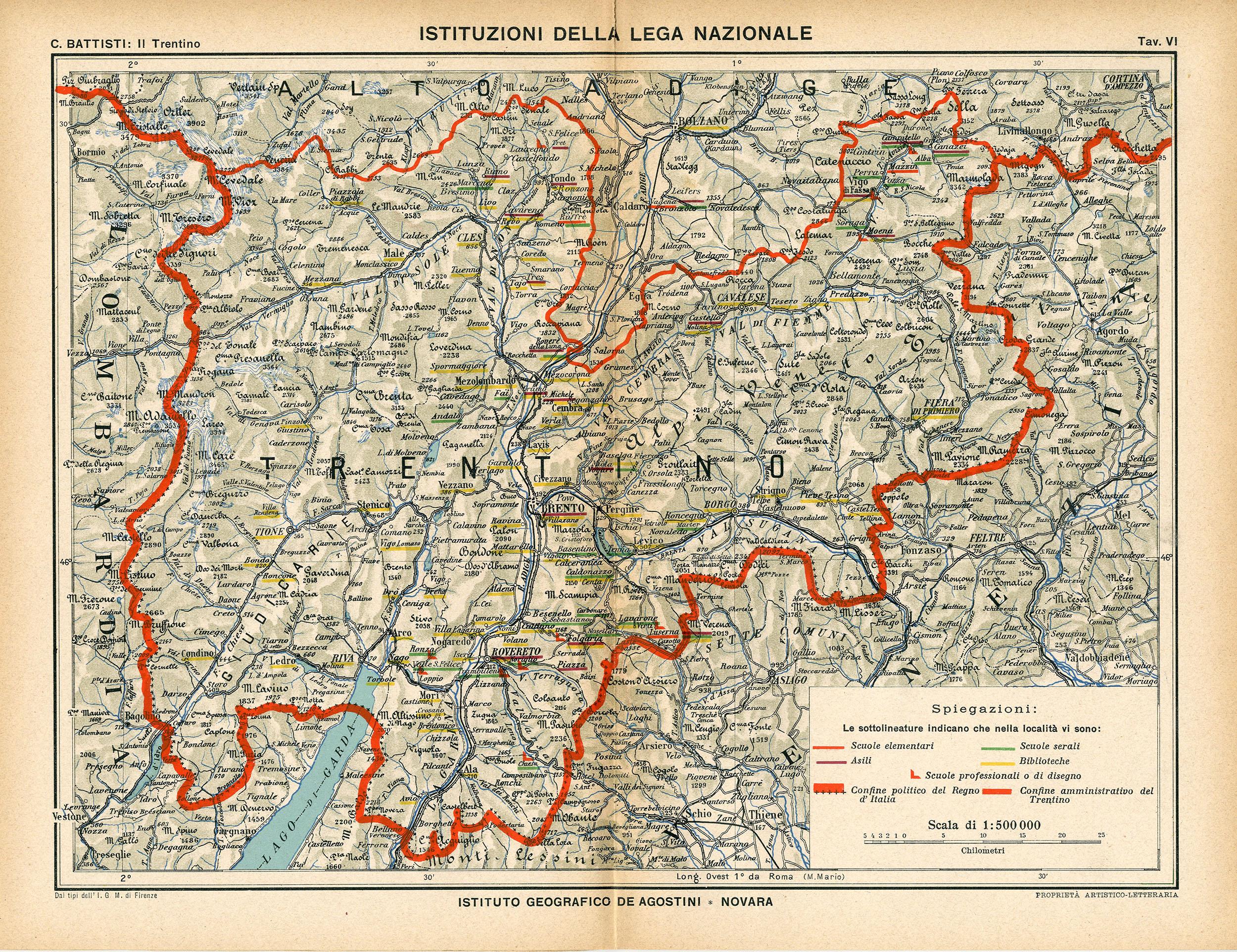 Cartina Geografica Trento.Cesare Battisti Atlante Il Trentino Cenni Geografici Storici Economici Con Un Appendice Sull Alto Adige Matteo Proto