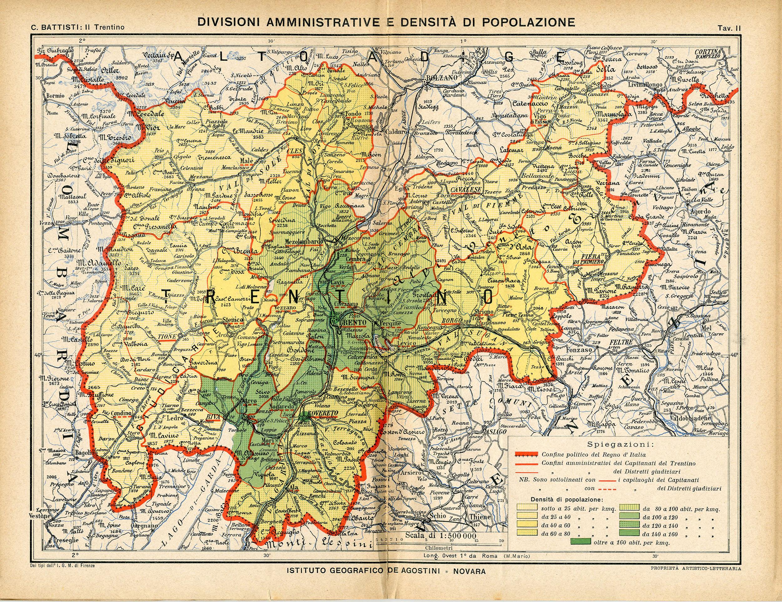 Cartina Fisica Politica Trentino Alto Adige